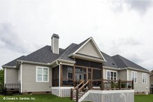 House Plan Design - Traditional Exterior - Rear Elevation Plan #929-741