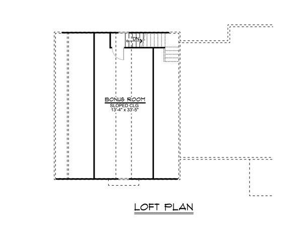 Craftsman Floor Plan - Upper Floor Plan #1064-30