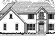 European Style House Plan - 4 Beds 3 Baths 3290 Sq/Ft Plan #67-773 Exterior - Front Elevation