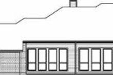 House Design - Traditional Exterior - Rear Elevation Plan #84-137