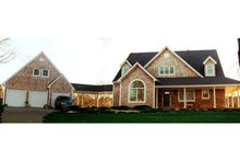 Country Exterior - Front Elevation Plan #3-259