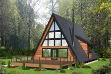 Architectural House Design - Contemporary Exterior - Front Elevation Plan #117-914
