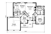 Traditional Style House Plan - 4 Beds 3.5 Baths 2482 Sq/Ft Plan #46-869 Floor Plan - Main Floor Plan