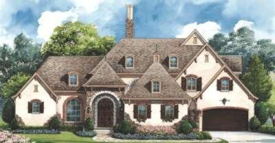 European Exterior - Front Elevation Plan #20-1731 - Houseplans.com