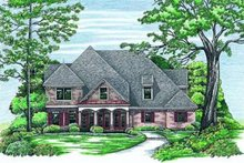 Dream House Plan - European Exterior - Front Elevation Plan #20-877
