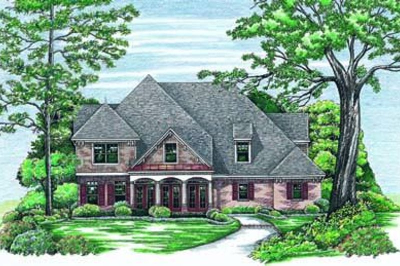 European Exterior - Front Elevation Plan #20-877