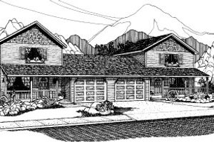 Traditional Exterior - Front Elevation Plan #303-175