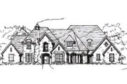 European Style House Plan - 4 Beds 4.5 Baths 4995 Sq/Ft Plan #141-218 Exterior - Front Elevation