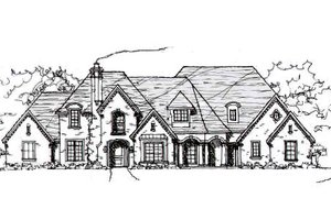 European Exterior - Front Elevation Plan #141-218