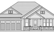 Craftsman Style House Plan - 3 Beds 2 Baths 1463 Sq/Ft Plan #46-896 Exterior - Front Elevation