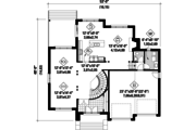 Contemporary Style House Plan - 4 Beds 2 Baths 3128 Sq/Ft Plan #25-4482 Floor Plan - Main Floor Plan