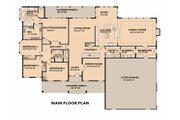Ranch Style House Plan - 4 Beds 3 Baths 4100 Sq/Ft Plan #515-1 Floor Plan - Main Floor Plan