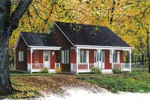 Cottage Exterior - Front Elevation Plan #23-526