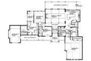 Craftsman Style House Plan - 4 Beds 4.5 Baths 3238 Sq/Ft Plan #935-11 Floor Plan - Main Floor