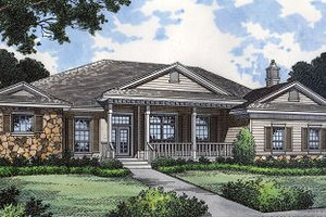 Colonial Exterior - Front Elevation Plan #417-334
