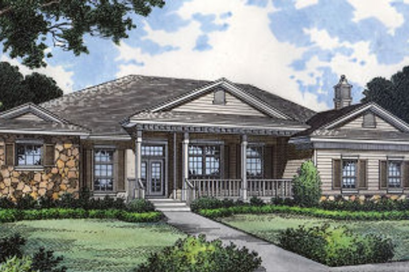Colonial Style House Plan - 4 Beds 3 Baths 2792 Sq/Ft Plan #417-334