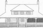 Farmhouse Style House Plan - 3 Beds 2.5 Baths 2200 Sq/Ft Plan #81-495 Exterior - Rear Elevation