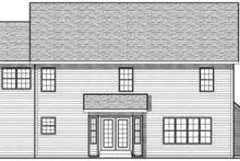 Architectural House Design - Traditional Exterior - Rear Elevation Plan #70-733