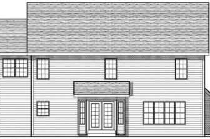 Traditional Exterior - Rear Elevation Plan #70-733 - Houseplans.com