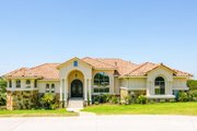 Mediterranean Style House Plan - 4 Beds 4 Baths 3537 Sq/Ft Plan #80-209 Exterior - Front Elevation