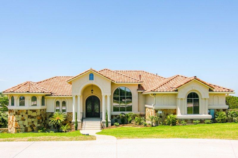 Dream House Plan - Mediterranean Exterior - Front Elevation Plan #80-209
