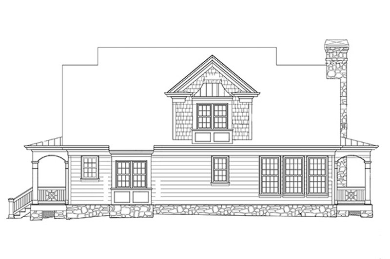 Country Exterior - Rear Elevation Plan #429-430 - Houseplans.com