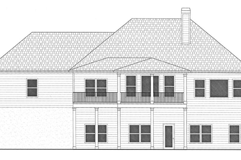 Ranch Exterior - Rear Elevation Plan #437-77 - Houseplans.com