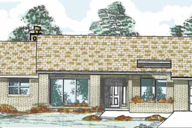 Ranch Exterior - Front Elevation Plan #52-258