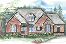 Country Exterior - Front Elevation Plan #54-348