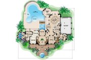 Southern Style House Plan - 5 Beds 6 Baths 9992 Sq/Ft Plan #27-534 Floor Plan - Main Floor Plan