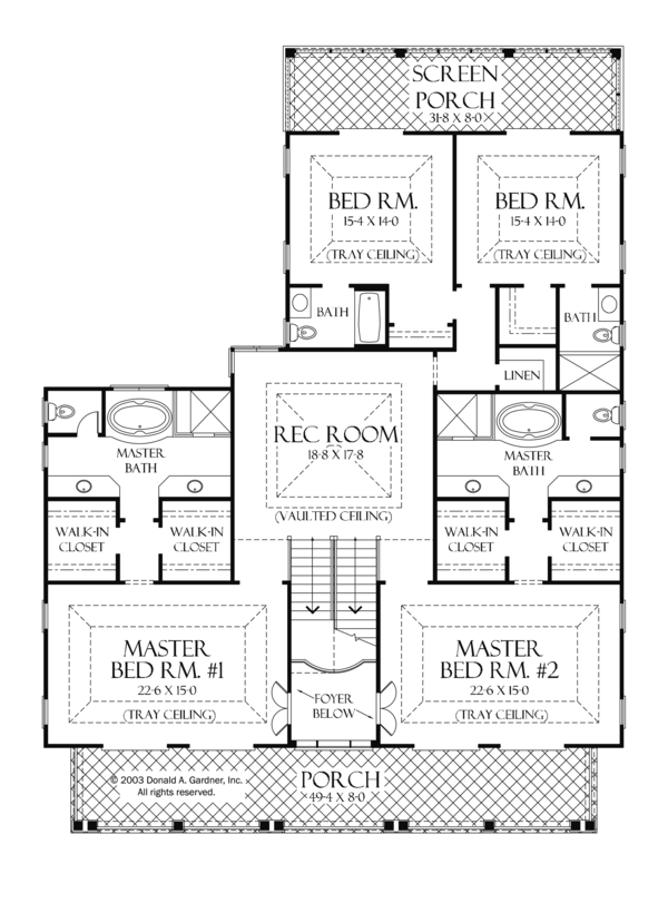 Country Floor Plan - Upper Floor Plan Plan #929-897