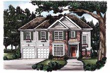 Colonial Exterior - Front Elevation Plan #927-619