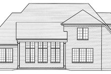 Country Exterior - Rear Elevation Plan #46-856