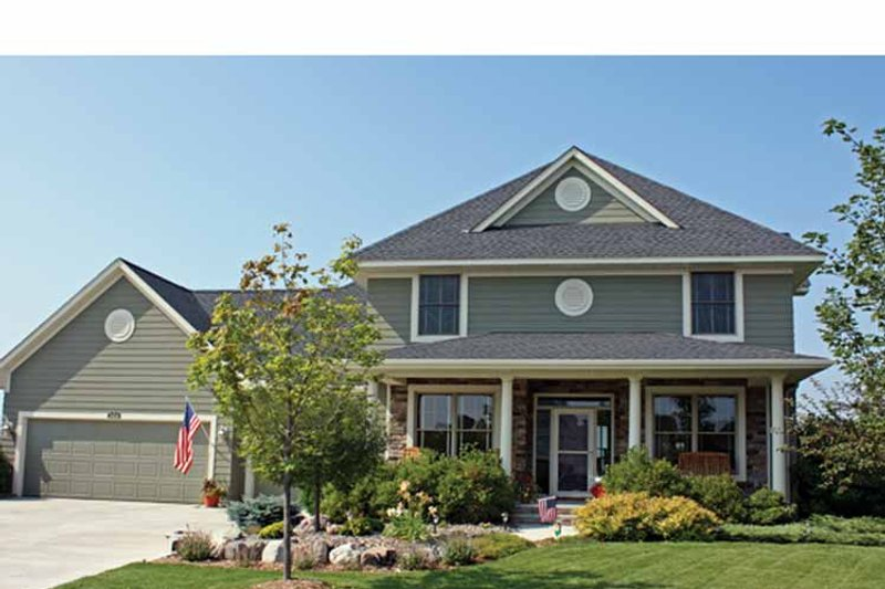 House Plan Design - Country Exterior - Front Elevation Plan #51-1099