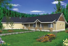 Ranch Exterior - Front Elevation Plan #117-848