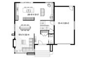 Contemporary Style House Plan - 3 Beds 1.5 Baths 1852 Sq/Ft Plan #23-2585 Floor Plan - Main Floor