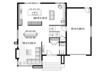Contemporary Floor Plan - Main Floor Plan Plan #23-2585