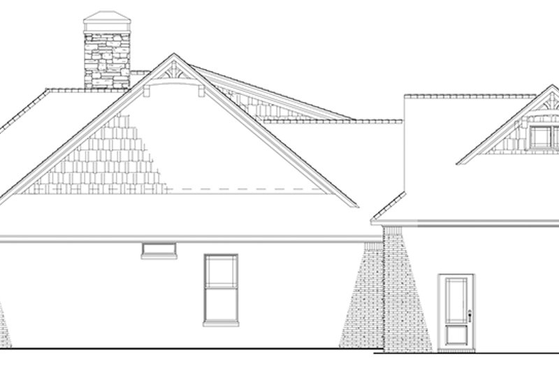 European Exterior - Other Elevation Plan #17-3403 - Houseplans.com