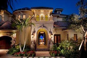 Architectural House Design - Mediterranean Exterior - Front Elevation Plan #1017-171