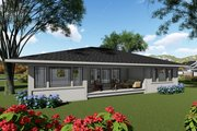 Modern Style House Plan - 2 Beds 2 Baths 1959 Sq/Ft Plan #70-1417 Exterior - Rear Elevation