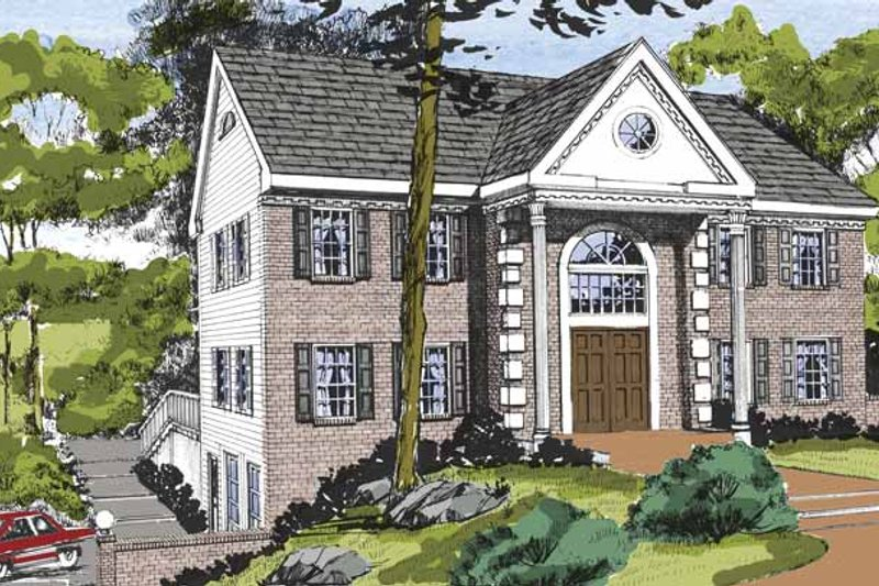 Dream House Plan - Traditional Exterior - Front Elevation Plan #314-266