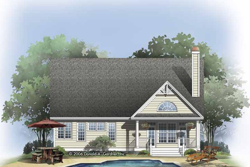 Craftsman Exterior - Rear Elevation Plan #929-814 - Houseplans.com