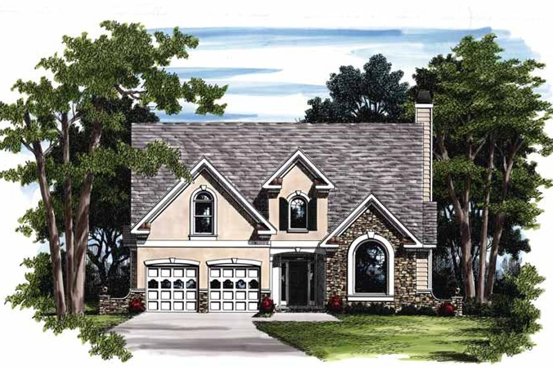 Colonial Exterior - Front Elevation Plan #927-239