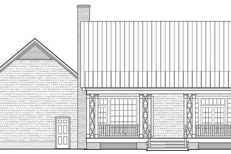 Country Exterior - Rear Elevation Plan #137-372 - Houseplans.com