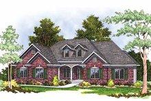 Dream House Plan - Mediterranean Exterior - Front Elevation Plan #70-1336