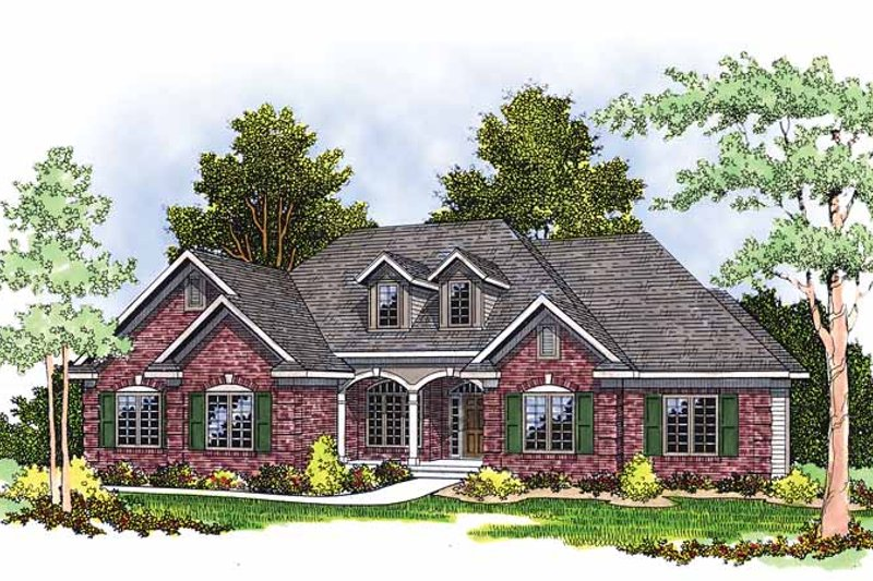 Mediterranean Exterior - Front Elevation Plan #70-1336
