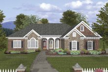 Craftsman Exterior - Front Elevation Plan #56-688