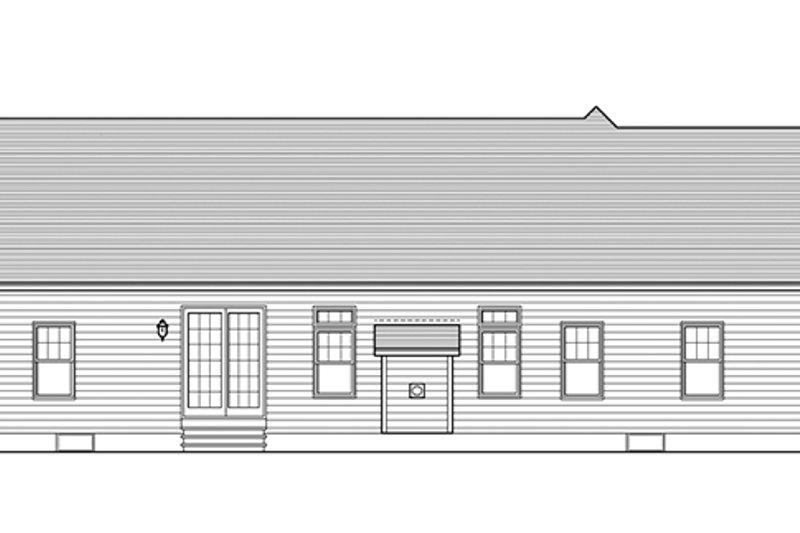 Ranch Exterior - Rear Elevation Plan #1010-100 - Houseplans.com