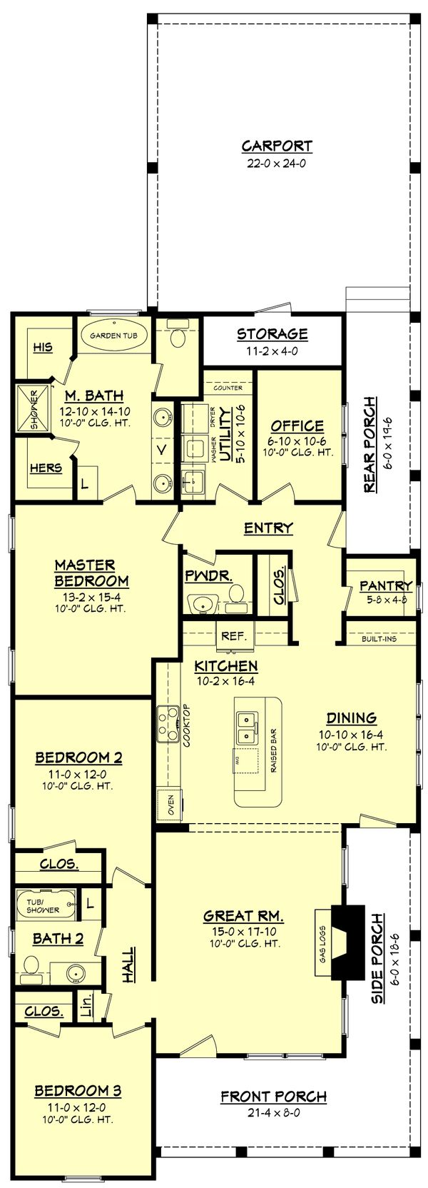 Dream House Plan - Farmhouse Floor Plan - Main Floor Plan #430-86