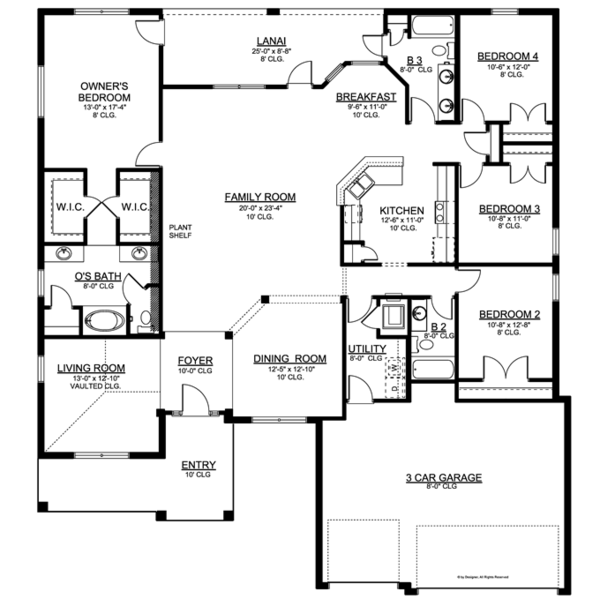 Traditional Floor Plan - Main Floor Plan Plan #1058-50